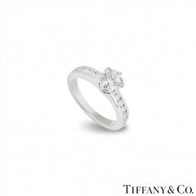 Tiffany & Co. Platinum Diamond Ring 1.04ct G/VS1 XXX
